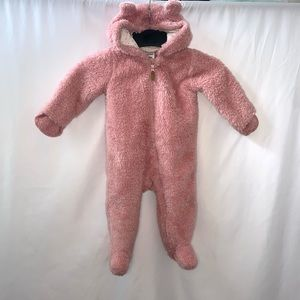 Carter's Baby Girl Zip Up Teddy Jacket Size 9 M
